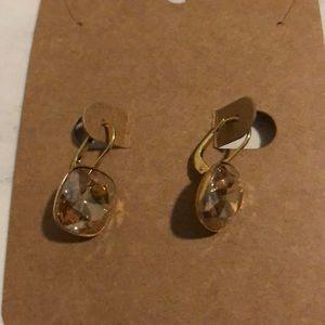 Swarovski Hanging Topaz Earrings